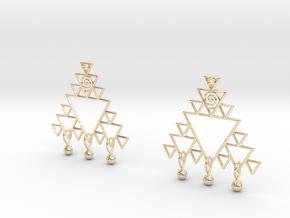 Fractal Earrings in 14K Yellow Gold