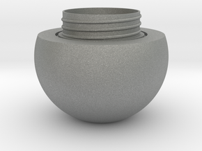 Sphere jar - bottom in Gray PA12