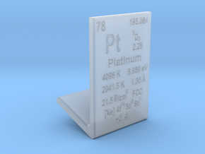 Platinum Element Stand in Smooth Fine Detail Plastic