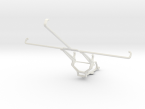 Controller mount for Steam & Samsung Galaxy Tab 8. in White Natural Versatile Plastic
