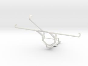 Controller mount for Steam & Samsung Galaxy Tab Pr in White Natural Versatile Plastic