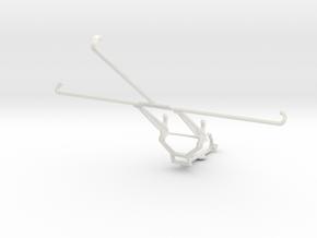 Controller mount for Steam & Google Pixel C - Fron in White Natural Versatile Plastic