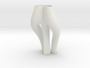 Vase 739MGT in White Natural Versatile Plastic