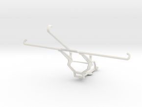 Controller mount for Steam & Sony Xperia Z3 Tablet in White Natural Versatile Plastic