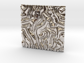 Coral pattern Seamless Decorative miniature  tiles in Platinum