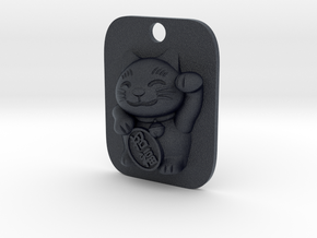 Lucky Cat Keyfob in Black PA12