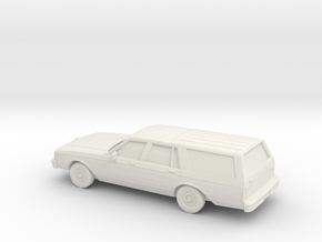 1/72 1982-85 Chevrolet Caprice Classic Station Wag in White Natural Versatile Plastic