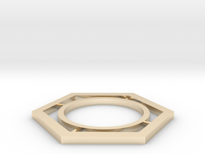 hexagon in 14K Yellow Gold: Medium