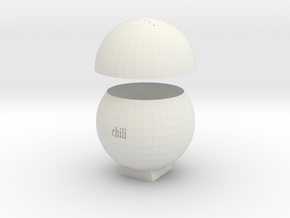 chili Spice jar in White Natural Versatile Plastic: Small