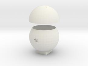 chiliSpice jar in White Natural Versatile Plastic: Small