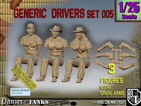 1/25 Generic Drivers Set005 in White Natural Versatile Plastic