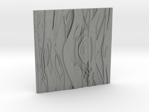 Floral Decorative tile 9.2x9.2x.67 cm in Gray PA12