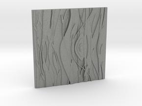 Floral Decorative tile 9.2x9.2x.67 cm in Gray Professional Plastic