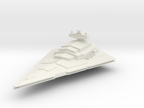 5000 Imperial class Star Destroyer Star Wars in White Natural Versatile Plastic