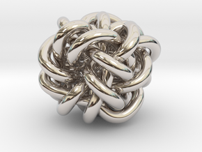 B&G Knot 04 in Rhodium Plated Brass