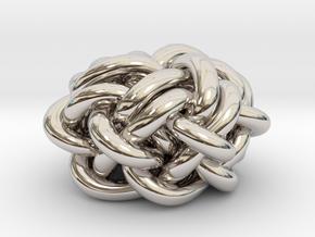 B&G Knot 02 in Rhodium Plated Brass