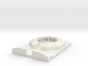 flak 88 emplacement scale 1/100 in White Natural Versatile Plastic