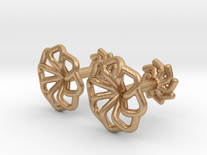 Wire Star Cufflinks in Natural Bronze