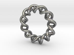 Mithocondria DNA pendant necklace in Natural Silver