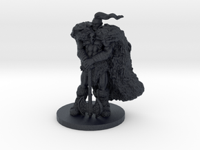 Raven Barbarian Miniature in Black Professional Plastic