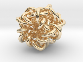 B&G Knot 07 in 14k Gold Plated Brass