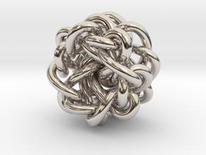 B&G Knot 09 in Rhodium Plated Brass