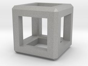 Cube Pendant in Aluminum