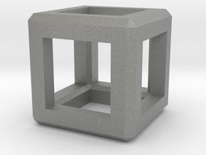 Cube Pendant in Gray Professional Plastic