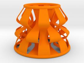 Ribbons lampshade in Orange Processed Versatile Plastic