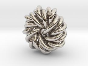 B&G Knot 12 in Rhodium Plated Brass