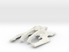 Long Spider Alien ship in White Natural Versatile Plastic