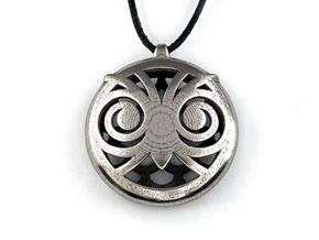 Hypno Owl Pendant in Polished Bronzed Silver Steel