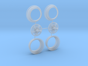 1/25 HQ GTS Wheels 8x14 2up 3pc in Smooth Fine Detail Plastic
