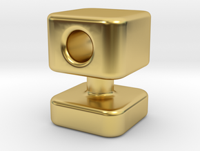 Knob 13 in Polished Brass