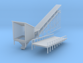 'N Scale' - Coal Loader -Side Rail in Smooth Fine Detail Plastic