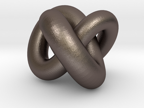 Torus Knot 01 in Polished Bronzed-Silver Steel