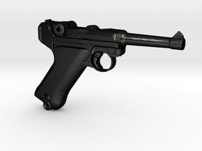 1/3 Scale German Luger  in Matte Black Steel