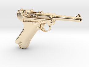 1/3 Scale German Luger  in 14K Yellow Gold