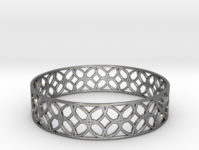 Enneper Curve Bracelet (001) in Fine Detail Polished Silver