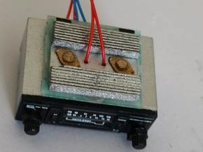 Eaglemoss delorean radio heatsink 1:8 in Smoothest Fine Detail Plastic