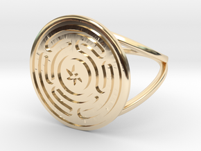 Wheel of Hecate ring in 14K Yellow Gold: 6.25 / 52.125
