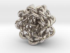 B&G Knot 16 in Rhodium Plated Brass