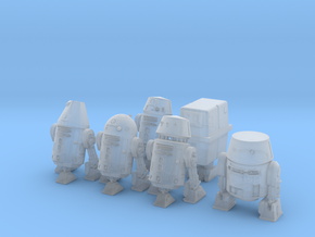 6 Assorted Space Mechanical Robots  in Smooth Fine Detail Plastic