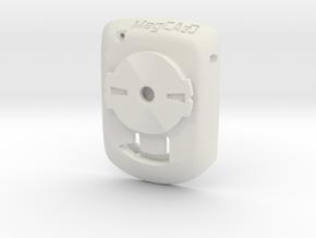 Wahoo Elemnt Bolt to Garmin Edge Adaptor in White Premium Versatile Plastic
