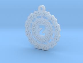 Magic Letter Z Pendant in Smooth Fine Detail Plastic