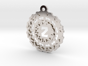Magic Letter Z Pendant in Rhodium Plated Brass