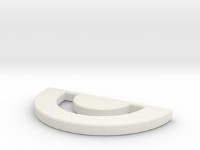 Qi'Ra Gold Pendant in White Natural Versatile Plastic
