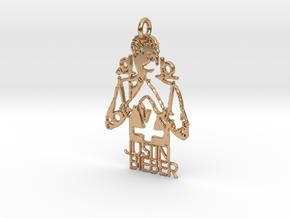 Justin Bieber Pendant - Exclusive Jewellery in Polished Bronze