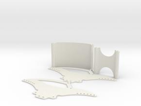 Losi Micro Crawler Spider Chassis Kit V2 in White Natural Versatile Plastic