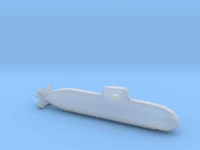 Type 212 submarine, Full Hull, 1/1800 in Smooth Fine Detail Plastic
